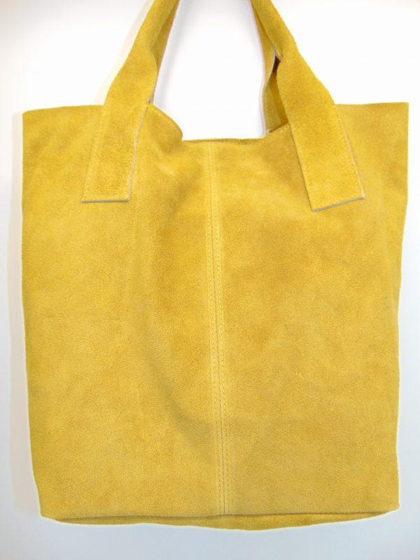 Borse in Pelle skórzana torebka żółta