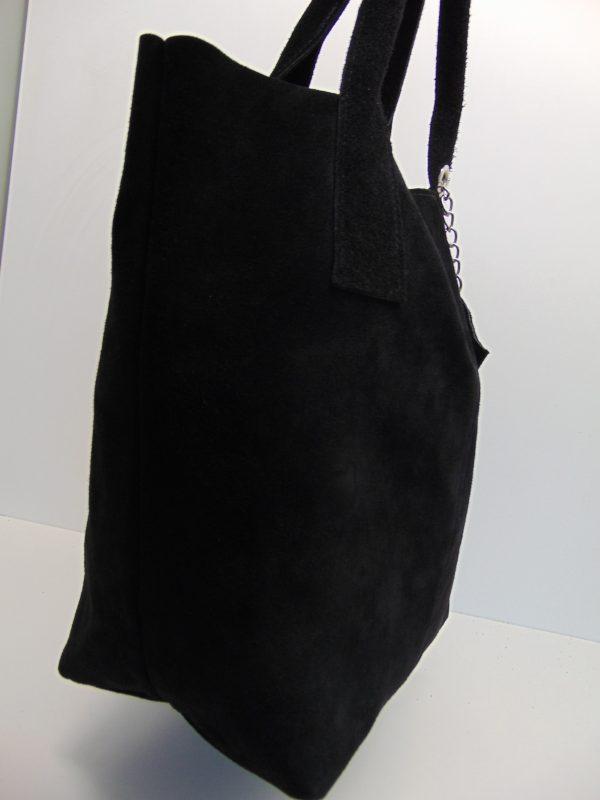 Borse in Pelle skórzana torebka czarna