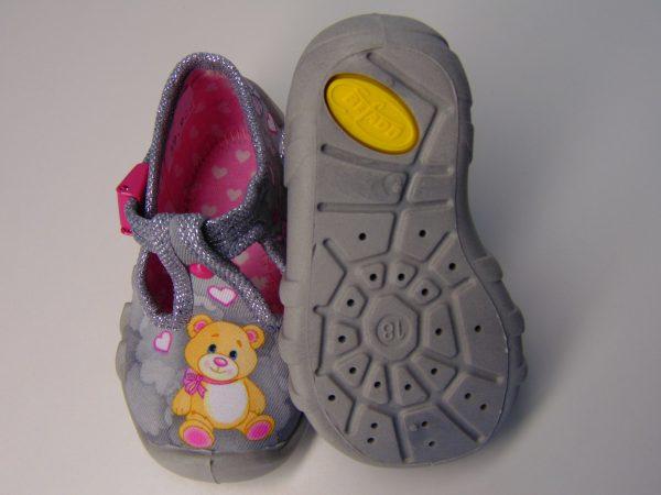 Befado 110P349 buciki dziewczęce szare