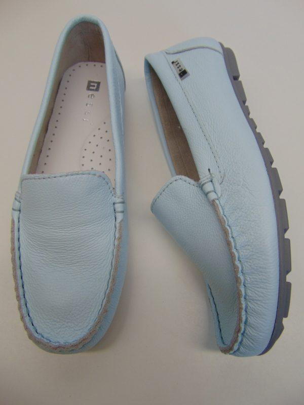 Nessi 17130-412 mokasyny/lordsy  niebieski