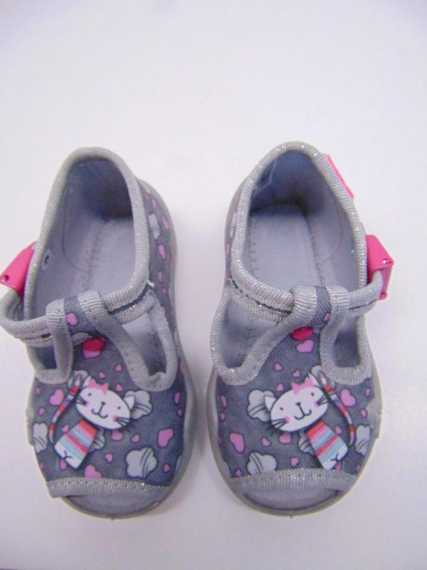Befado 213P107 buciki dziewczęce szare