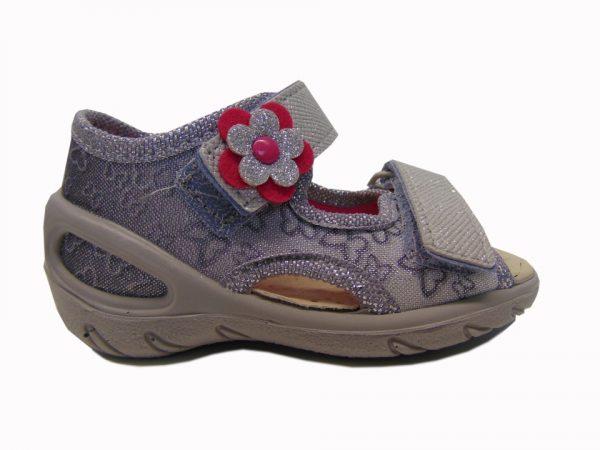 Befado 065P124 sandały dziewczęce srebrne