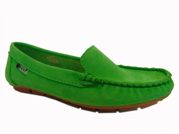 Nessi 17130-199 mokasyny/lordsy welur zielony