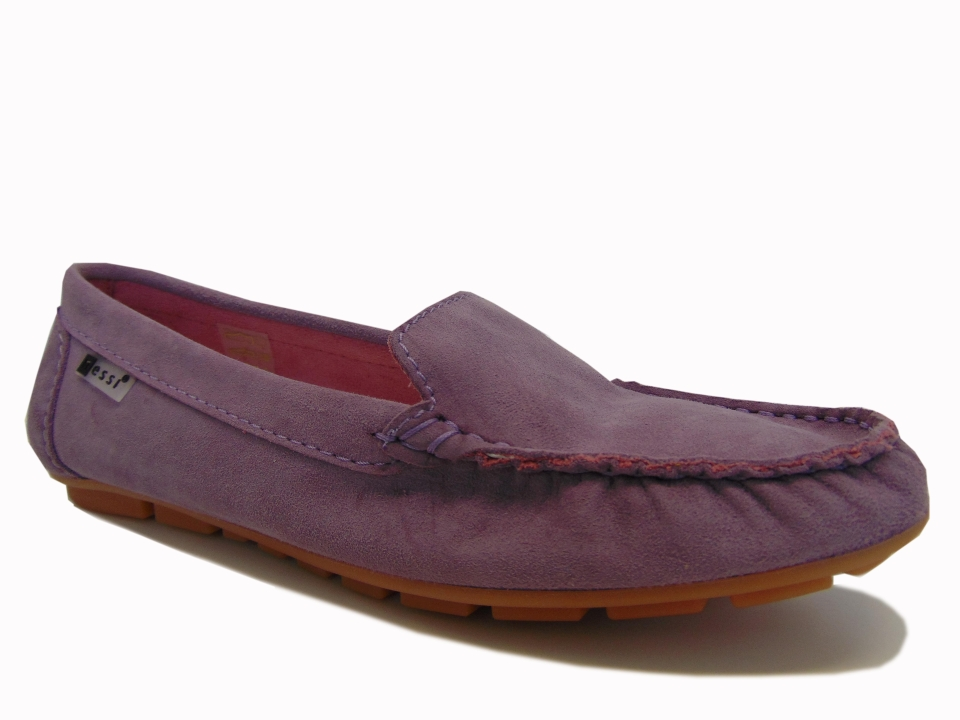 9ffd4f67334d3c Nessi 17130-191 mokasyny/lordsy welur fiolet | Buty damskie na lato ...