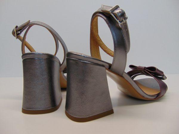 Sandały Maccioni 906 skóra srebrne