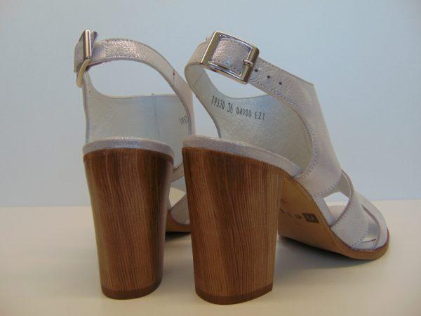 Sandały Nessi 19530-CT skóra srebro