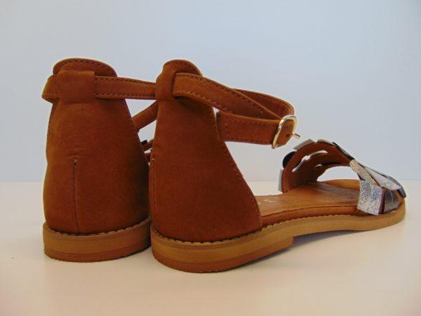 Sandały Nessi 19554 skóra camel