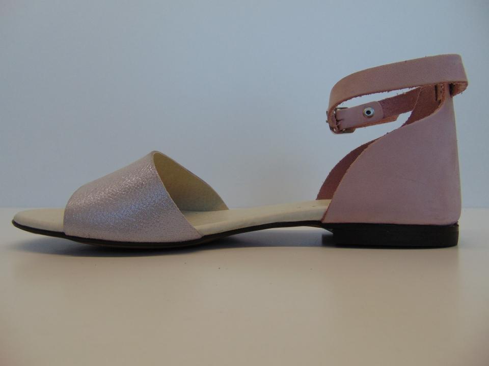 Sandały Nessi 49204 CT skóra szary | Buty damskie na lato