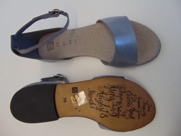 Sandały Nessi 49204-CT skóra róż