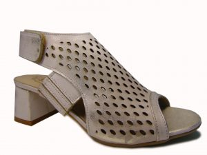 Sandały Stagórs 1354 skóra biało złote