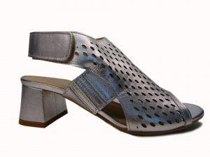 Sandały Stagórs 1354 skóra srebrne