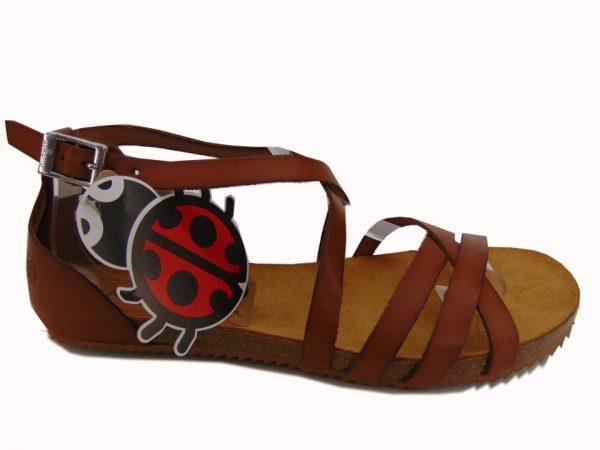 Yokono 073 hiszpańskie sandały camelowe/nuez