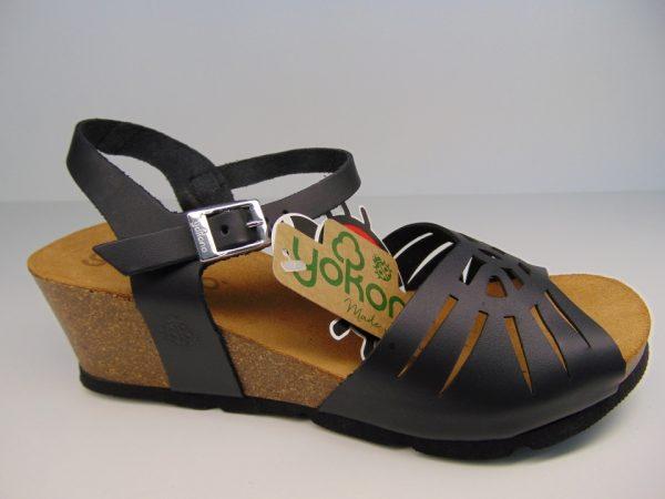 Yokono 097  hiszpańskie sandały czarne