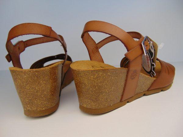 Yokono 097  hiszpańskie sandały camelowe/nuez