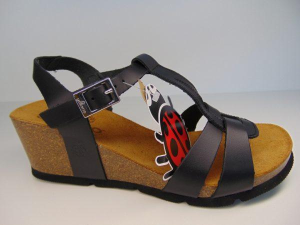 Yokono 014 4 hiszpańskie sandały czarne/negro