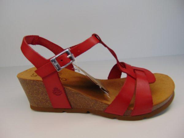 Yokono 014 4 hiszpańskie sandały czerwone