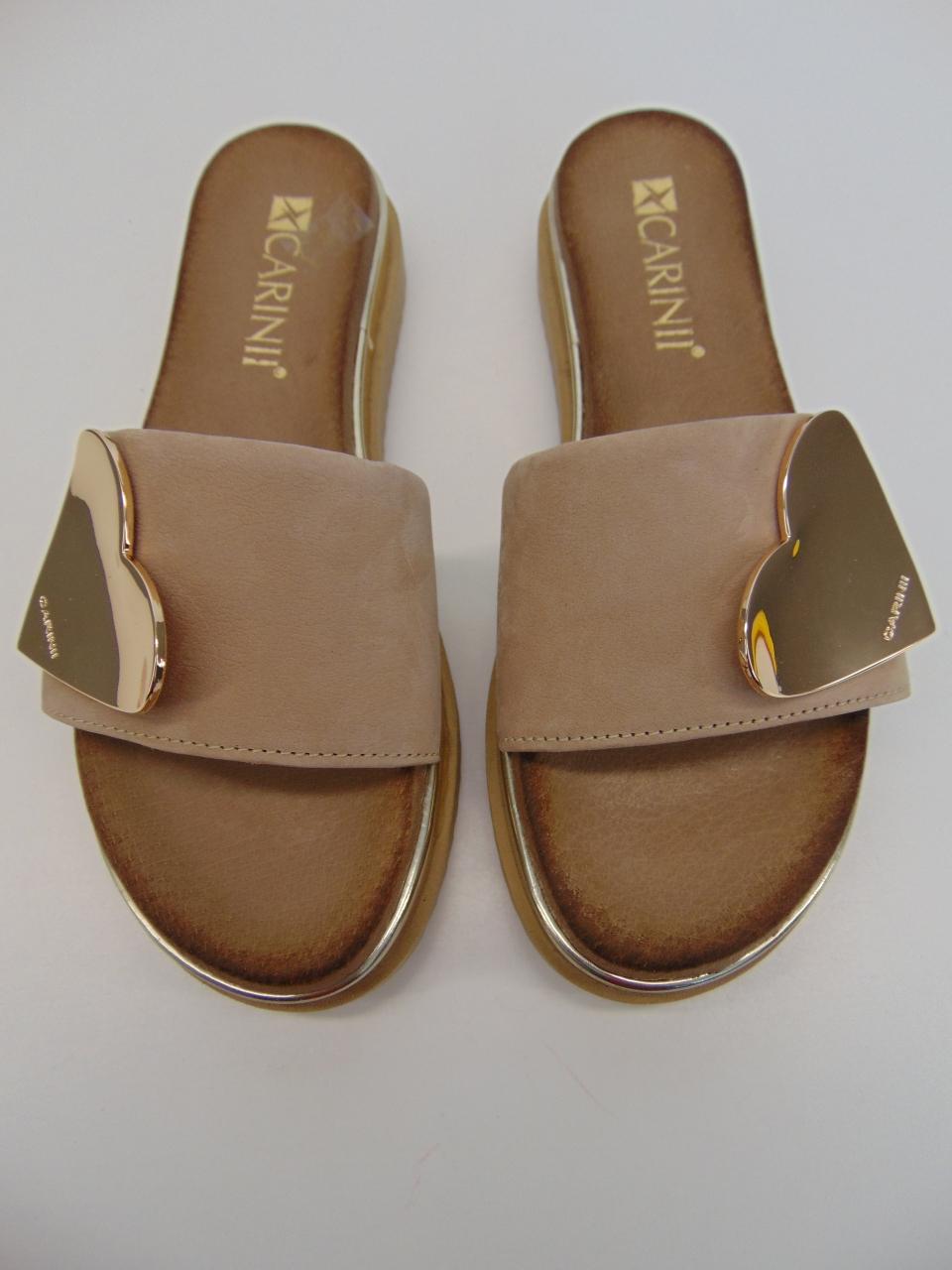 Sandały Carinii 5011 skóra złota   Buty damskie na lato