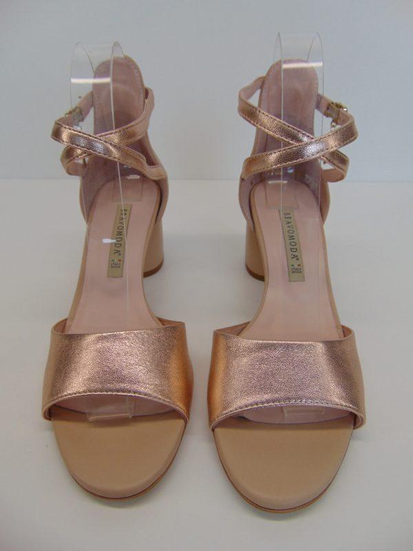 Sandały Bravo Moda 1700 beż+mustang 102