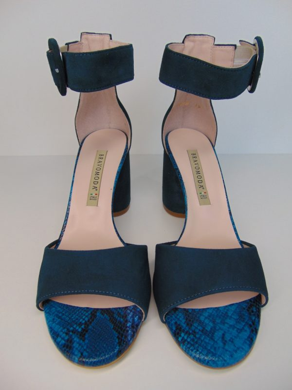 Sandały Bravo Moda 1698 ocean zamsz