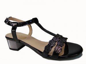 Sandały Gamis 3661 czarny lakier