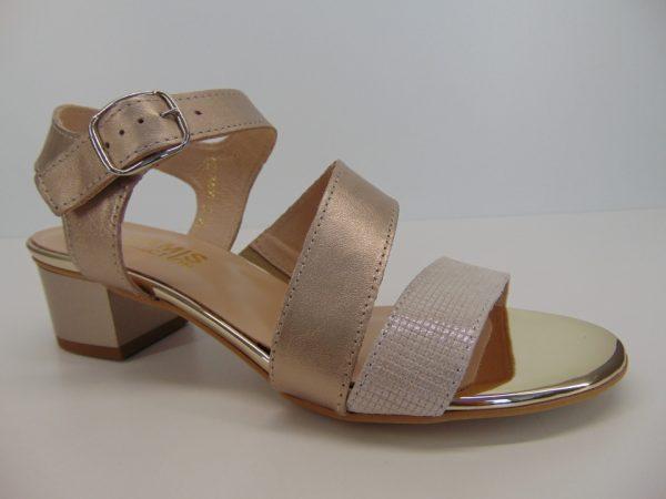 Sandały Gamis 3643 szary zamsz+brokat