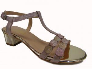 Sandały Gamis 3661-P117 j.róż/złoty