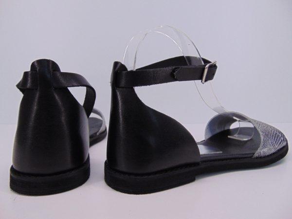 Sandały Nessi 18382 czarne+srebro