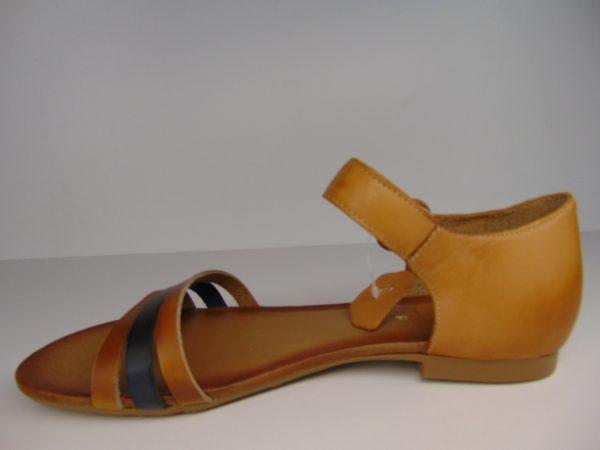 Sandały Nessi 82206 skóra czarne19 zamsz