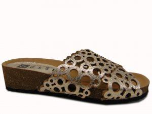 Sandały Nessi 82206 skóra czarne zamsz