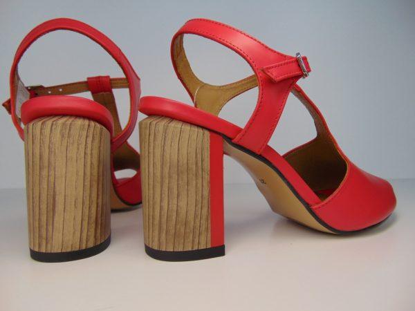 Sandały Maciejka 04117-08 skóra czerwone
