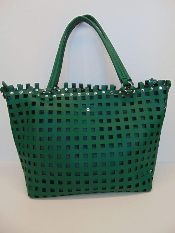 Torebka Monnari BAG5060 ażurowa zielona