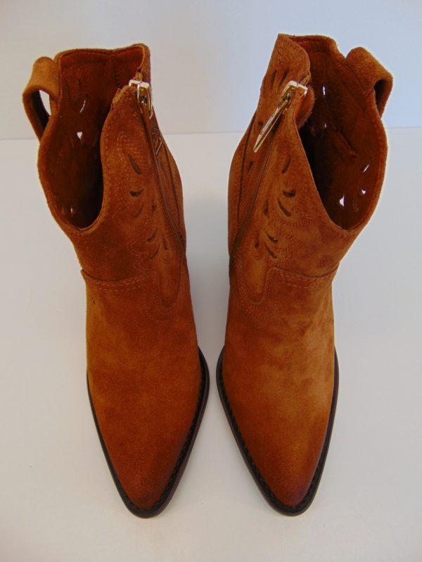 Kowbojki Carinii B5261-E50 skóra lico czarne