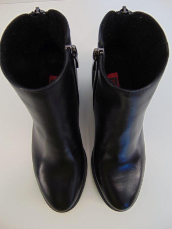 Botki Nessi 18447-16 skóra lico czarne