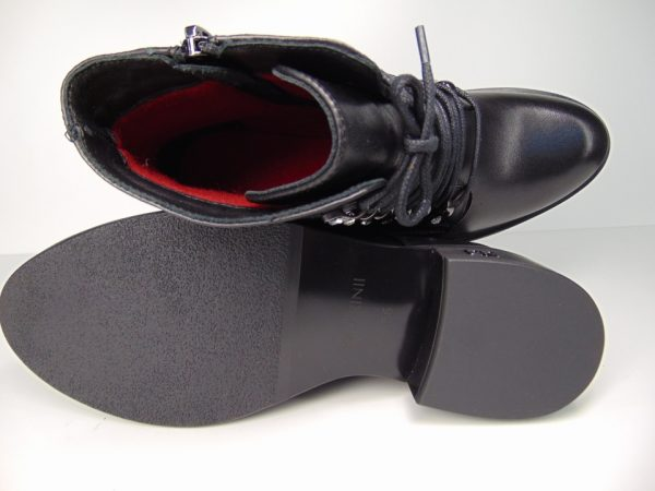 Botki Carinii B5192 skóra lico czarny