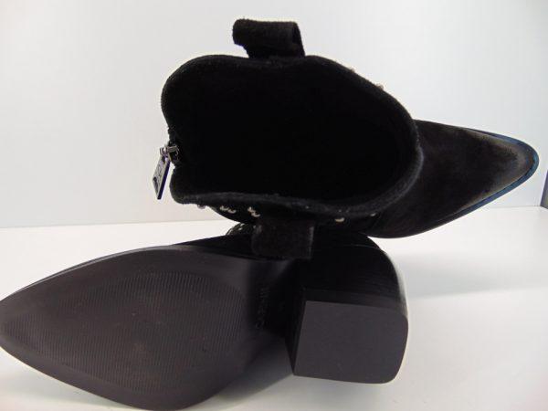 Kowbojki botki Carinii B5203 skóra czarny