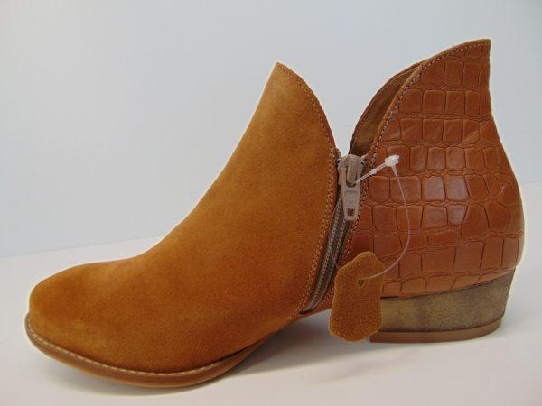 Botki BravoModa 1756 skóra welur czarne