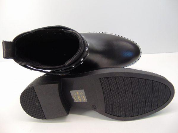 Botki Carinii B5166-E50 skóra zamsz czarny