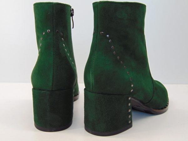 Botki Nessi 18429 skóra zamsz zielone