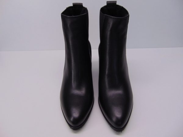 Botki Nessi 19610 skóra lico czarne