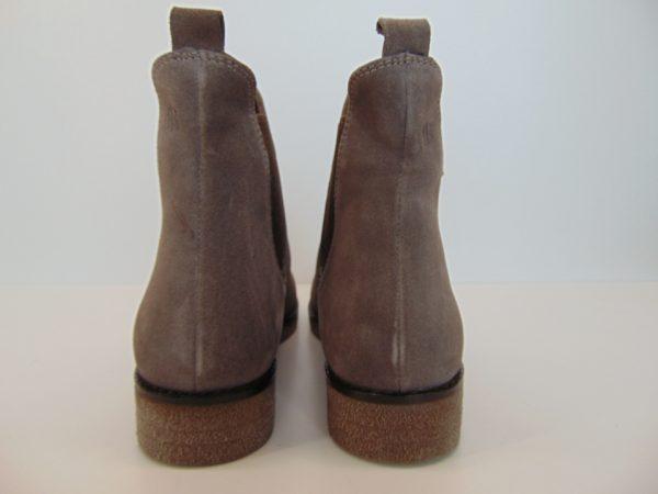 Botki Badura 7140-69 skóra zamsz szary
