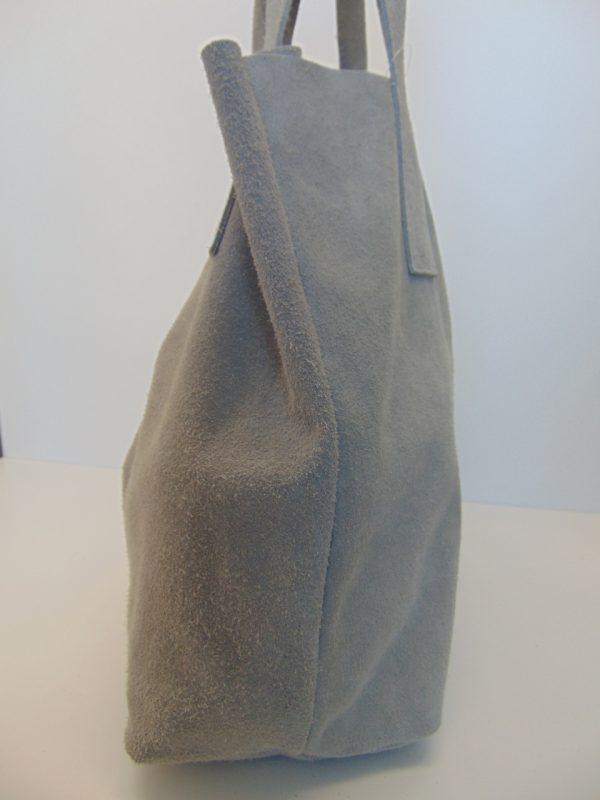 Borse in Pelle skórzana torebka szara