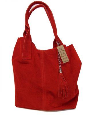 Borse in Pelle skórzana torebka czerwona