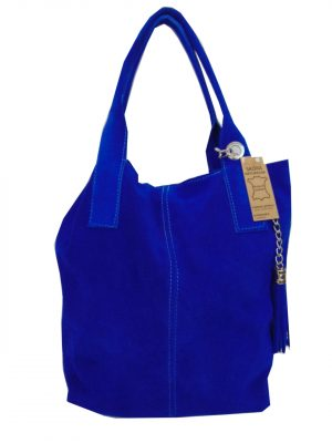 Borse in Pelle skórzana torebka niebieska