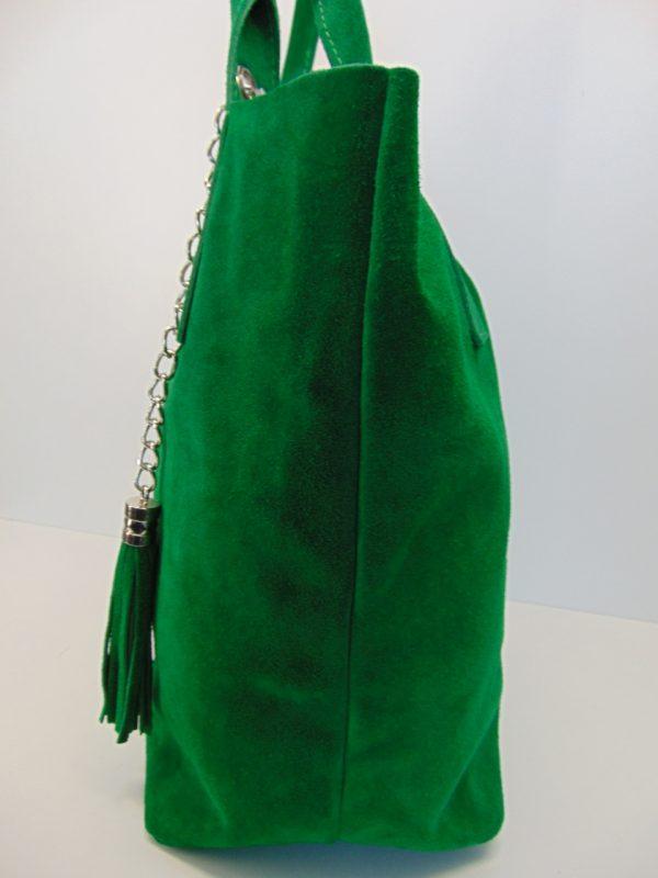 Borse in Pelle skórzana torebka zielona