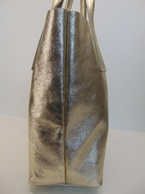 Borse in Pelle skórzana torebka złota