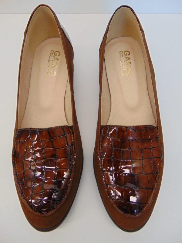 Półbuty Maciejka 04099-23 skóra bordo krokodyl