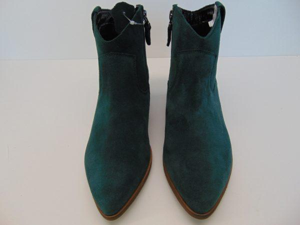 Botki Maciejka 04289-50 skóra zielony welur