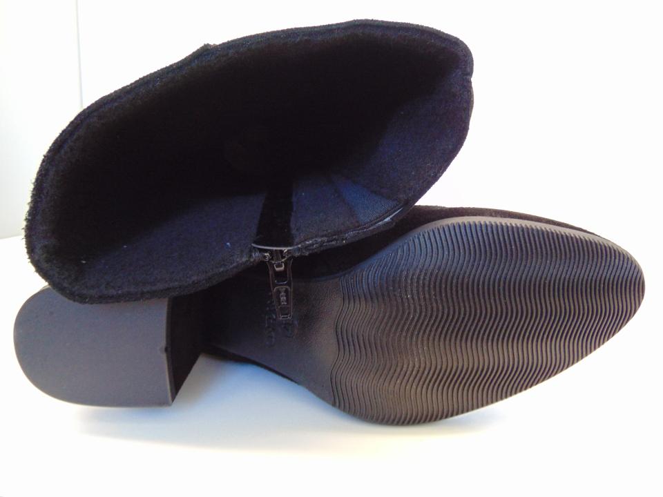 Kozaki Ryłko 8PXF846F skóra zamsz czarne | Buty damskie na