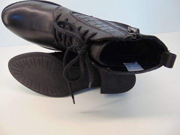 Botki Kati 8049 Z003 skóra zamsz czarne