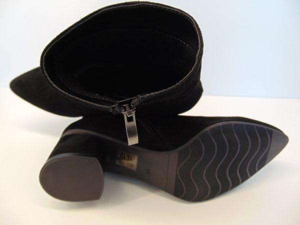 ELIZABET CANARD skórzana czarna torebka